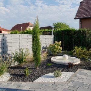Construction à toiture deux pans - jardin